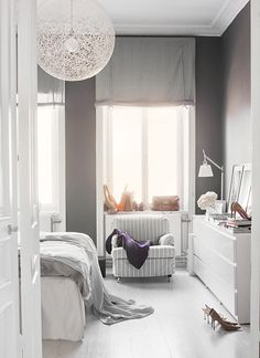 like the wall color and also the decoration of this cute bedroom | Finding Fortune
