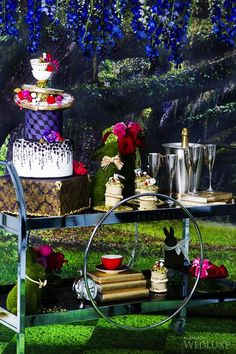 WedLuxe – Alice in Wonderland | Photography by: Tara Noelle Photography Follow @WedLuxe for more wedding inspiration!