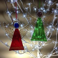 I will be tying ribbons on about 80 of these later! #fusedglass #angel #christmas #christmasdecorations #christmastree #sheffield #sheffieldissuper