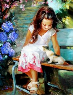 cuadros-de-pinturas-de-niñas-arte-impresionista-oleo