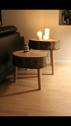 DIY stools for fun in the living room, or nightstand in the bedroom