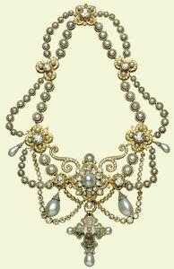 the dagmar necklace, property of queen elizabeth.