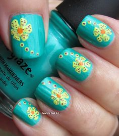 Spotted neon flowers