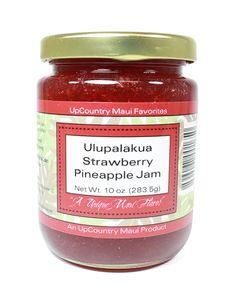 UPCOUNTRY MAUI - ULUPALAKUA STRAWBERRY PINEAPPLE JAM - 10oz