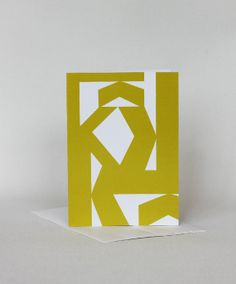 this #card set is inspired by #midcentury artists. Card Set  Yellow  Letter K  Midcentury Modern  by aciskedesign, $12.95