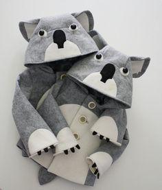 Kids Cuddly Koala Coat. $155.00, via Etsy.