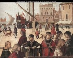 Arrival of the English Ambassadors (detail 2) 1495-1500 - Vittore Carpaccio