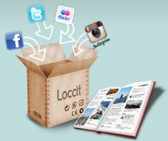 Loccit is an online service that lets you print and bind your posts and updates from various social networking sites like Facebook and Twitter.