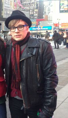 Awww!Patrick is frezzing with his little cute face! #FallOutBoy #FOB