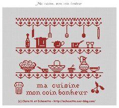 Cross Stitch Cards, Cross Stitching, Cross Stitch Embroidery, Cross Stitch Patterns, Beading Patterns, Embroidery Patterns, Crochet Patterns, Fillet Crochet, Cross Stitch Kitchen