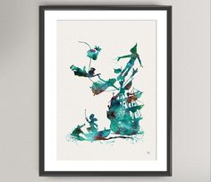 PETER PAN Nº3 Inspired Watercolor Print - Ink Wendy Kids illustration Art Print Wall Art Gift Decor Poster Wall Decor Art Home Decor by oinkartprints on Etsy https://www.etsy.com/listing/195729092/peter-pan-n3-inspired-watercolor-print