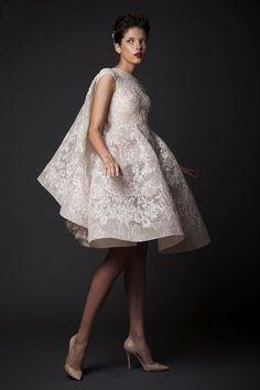 Krikor Jabotian short wedding dress
