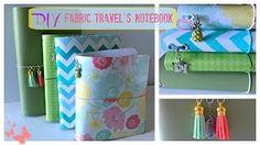 DIY Fabric Traveler's Notebook - YouTube