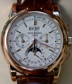 Many believe this to be the ultimate chrono. I would probably agree. The Patek Philippe 5970. The 5970 G (White Gold) is 165,000 USD. (Click on the photo for a great high-res. image.) More photo's found here: http://www.watchtalkforums.info/forums/patek-philippe-forum/54929.htm