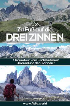 Traumtour zu Fuß auf die 3 Zinnen! Wer kennt sie nicht, das Wahrzeichen der Dolomiten. Wie du dort zu Fuß vom Fischleintal hinkommst? Erfahrungsbericht mit Tipps auf unserem Blog. Wandern, Dolomiten, Südtirol, Drei Zinnen, 3 Zinnen, Fischleintal, Umrundung 3 Zinnen, Wanderung, Wanderroute, Hochpustertal #dolomiten #wandern #dreizinnen #wanderroute #wanderlust