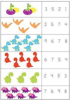 Free Kindergarten Worksheets, Kindergarten Learning, Preschool Learning Activities, Preschool Activities, Learning English For Kids, English Lessons For Kids, Numbers Preschool, Kids Education, Ideas