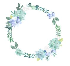 Floral Clipart White roses and succulents frames flower Flower Circle, Flower Frame, Flower Borders, Lilac Roses, White Roses, Clipart, Floral Frames, Succulent Frame, Floral Logo