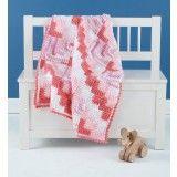 Mitered Crochet Baby Blanket Pattern