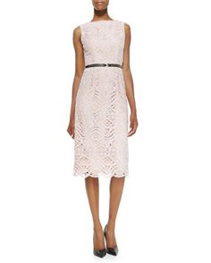 Cara Lace Sheath Dress by korovilas at Neiman Marcus.