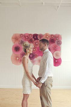 paper pinwheel backdrop