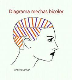 Andrés SanSan. Mechas bicolor