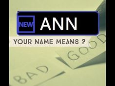 Know Anyone By their Name - Ann - Name Meaning-First Name ★҉Know Anyone By their Name  ★҉ Neimology Science ® is the study of the placement of letters in a name, that shows us how to find the patterns that will reveal natural tendencies in a person character, thinking, feeling,learning style and so much more.