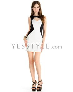 YESSTYLE: YesStyle Dress- Two-Tone Sleeveless Dress - 50% off only for 24 hours