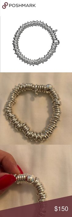 """Links of London sweetie bracelet The Sweetie is a tactile and fun alternative to the charm bracelet with an expandable diameter to fit most sizes.  6.3""""L Sterling silver  NEW without tags Links of London Jewelry Bracelets"""