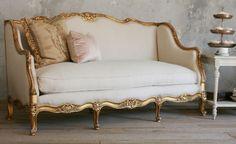 Vintage Gilt Louis XV French Style Setttee