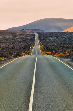 Road to Timanfaya by Ernst GamaufLanzarote, Canary Islands