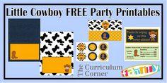 Little Cowboy Party Free Printable Mini Kit.