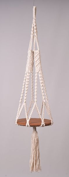 Macrame - make a big one for a birdfeeder? inspiration, no pattern