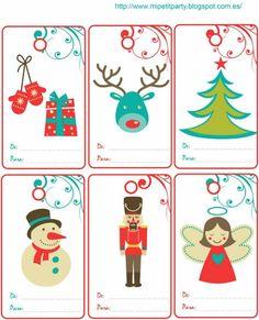 Etiquetas de regalos para imprimir   Decoideas.Net