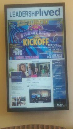 Digital signage on campus