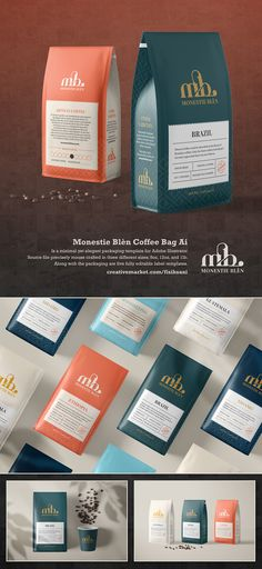 Meet the Monestie Blèn Coffee Bag template for Illustrator and InDesign format (separated item) | #8oz #12oz #1lb #arabica #bag #barista #beverage #blue #brand #cafe #caffeine #cleandesign #coffee #coffeebag #coffeeground #creativemarket #design #elegant #food #gusset #illustrator #indesign #kopi #luxurydesign #marketing #marketplace #minimal #packaging #packagingdesign #packing #pouch #print #retail #roastery #robusta #shop #simpledesign #stall #template #vector #wholebean