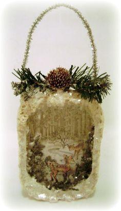 altered sardine tin ornament by Kitsch N Sink Studio, via Flickr