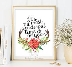 Christmas party decor quote printable by LittleEmmasFlowers