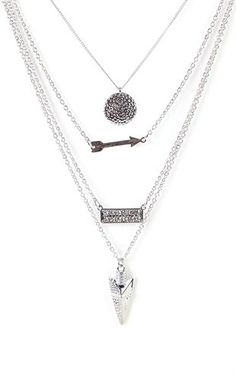 Deb Shops Long Necklace with Layered Charms $9.00