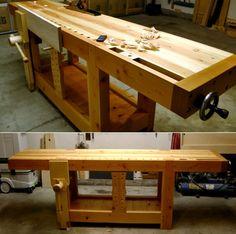 18th century Roubo workbench made by Ryan Van Dyke