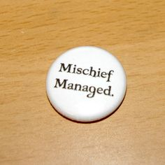 MISCHIEF MANAGED 1 inch pinback button harry potter marauders map spell charm pins buttons badge flair weasleys