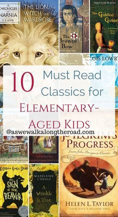 Are you looking for some great classic reads for your upper elementary kids? Here's a list of 10 must read classics for this age group. 4th Grade Books, 4th Grade Reading, Kids Reading, Reading Lists, 4th Grade Book List, Reading Books, Fourth Grade, Homeschool Books, Homeschooling