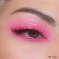 Cute Makeup Looks, Makeup Eye Looks, Eye Makeup Art, Fairy Makeup, Pretty Makeup, Eyeshadow Makeup, Pink Eyeliner, Pink Eyeshadow, Indie Makeup