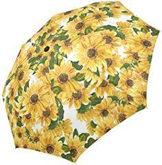 Fashion Umbrella Stylish Gift Vintage Umbrella Lightweight by LB Designer Umbrella Windproof Auto Open Close Folk Art Flowers Umbrella for Women Compact Automatic Rain Umbrella Floral Design