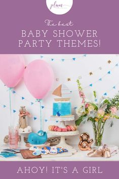 Are you planning the perfect baby shower? The first step is picking a theme for the special event. Find loads of ideas and inspiration by browsing through these baby shower themes. Shower Party, Baby Shower Parties, Bridal Shower, Princess Theme, Baby Sprinkle, Baby Shower Games, Baby Shower Decorations, Baby Shower Invitations, Plum