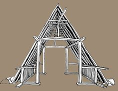 This structure marks the early evolution of green timber frames
