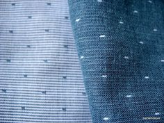 Dotted Double Gauze Yarn Dyed Reversible Indigo by theDelhiStore