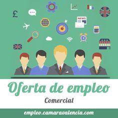 #empleo  PRECISAMOS COMERCIAL. SI ES POSIBLE CON EXPERIENCIA EN EL SECTOR DEL RECLAMO PUBLICITARIO O MERCHANDISING.  DON DE GENTES. TRABAJADOR. DISPONIBILIDAD PARA VIAJAR. INGLÉS MEDIO CONOCIMIENTO DE INFORMÁTICA BÁSICA: EXCEL, WORD, ETC.