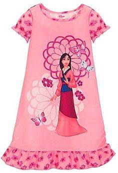 Disney Mulan Nightgown Size 4 Pink Princess Butterflies Flowers Ruffles NEW Lego Disney Princess, Disney Princess Pictures, Disney Girls, Disney Snacks, Cute Nightgowns, Casual Dresses, Summer Dresses, Disney Merchandise, Pink Princess