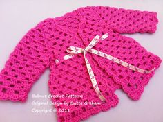 Crochet+Baby+Cardigan+Sweater++Crochet+Pattern+by+bubnutPatterns,+$4.00