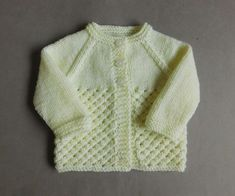 Danika means Morning Star (this design uses a version of star stitch) Danika Bab. : Danika means Morning Star (this design uses a version of star stitch) Danika Baby Jacket ~ with a Collar Danika Baby … Easy Baby Knitting Patterns, Baby Cardigan Knitting Pattern Free, Crochet Baby Jacket, Baby Sweater Patterns, Knitted Baby Cardigan, Knit Baby Sweaters, Knitted Baby Clothes, Knitting Designs, Free Knitting